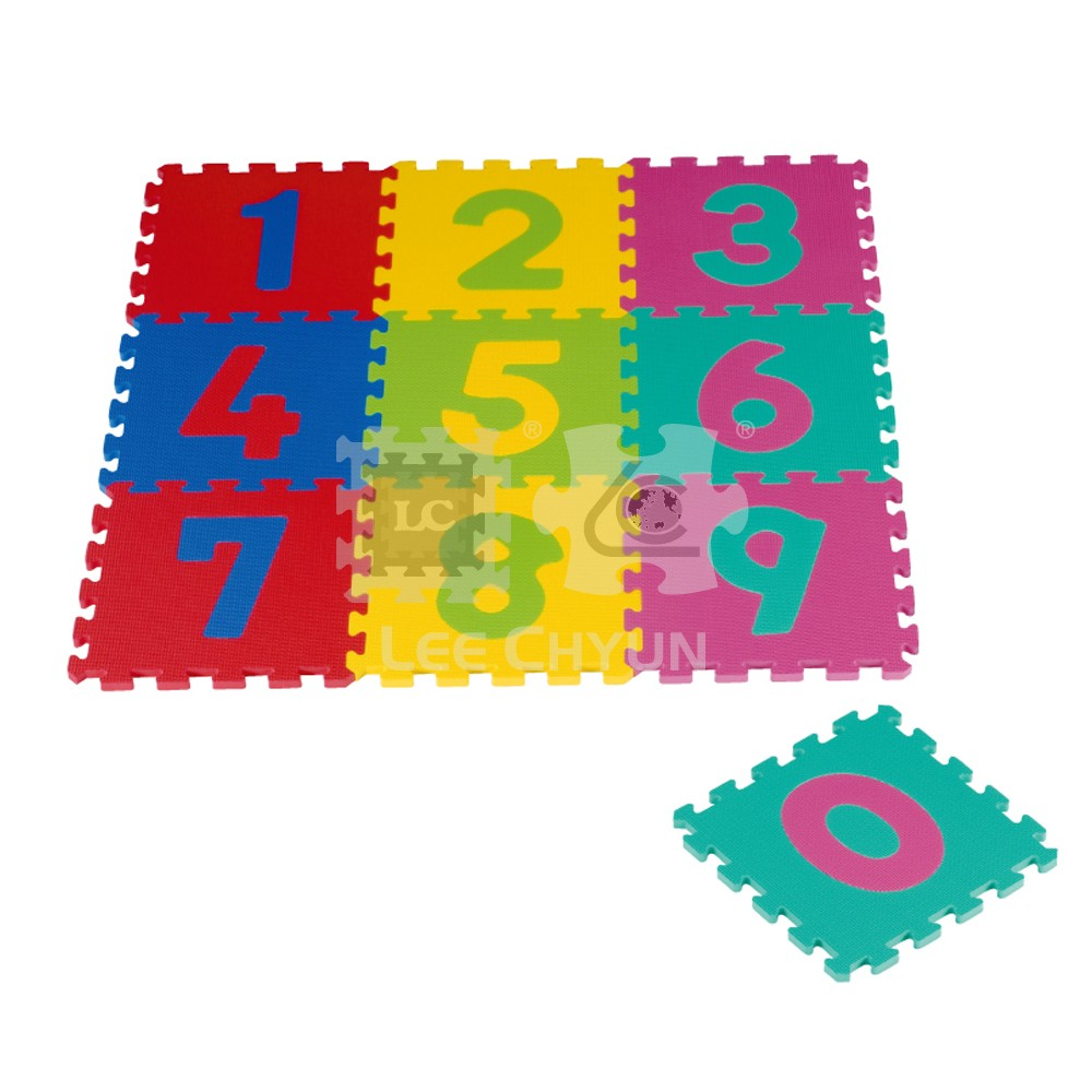 10 Pcs Number Puzzle Mat 10 Pcs Number Puzzle Mat