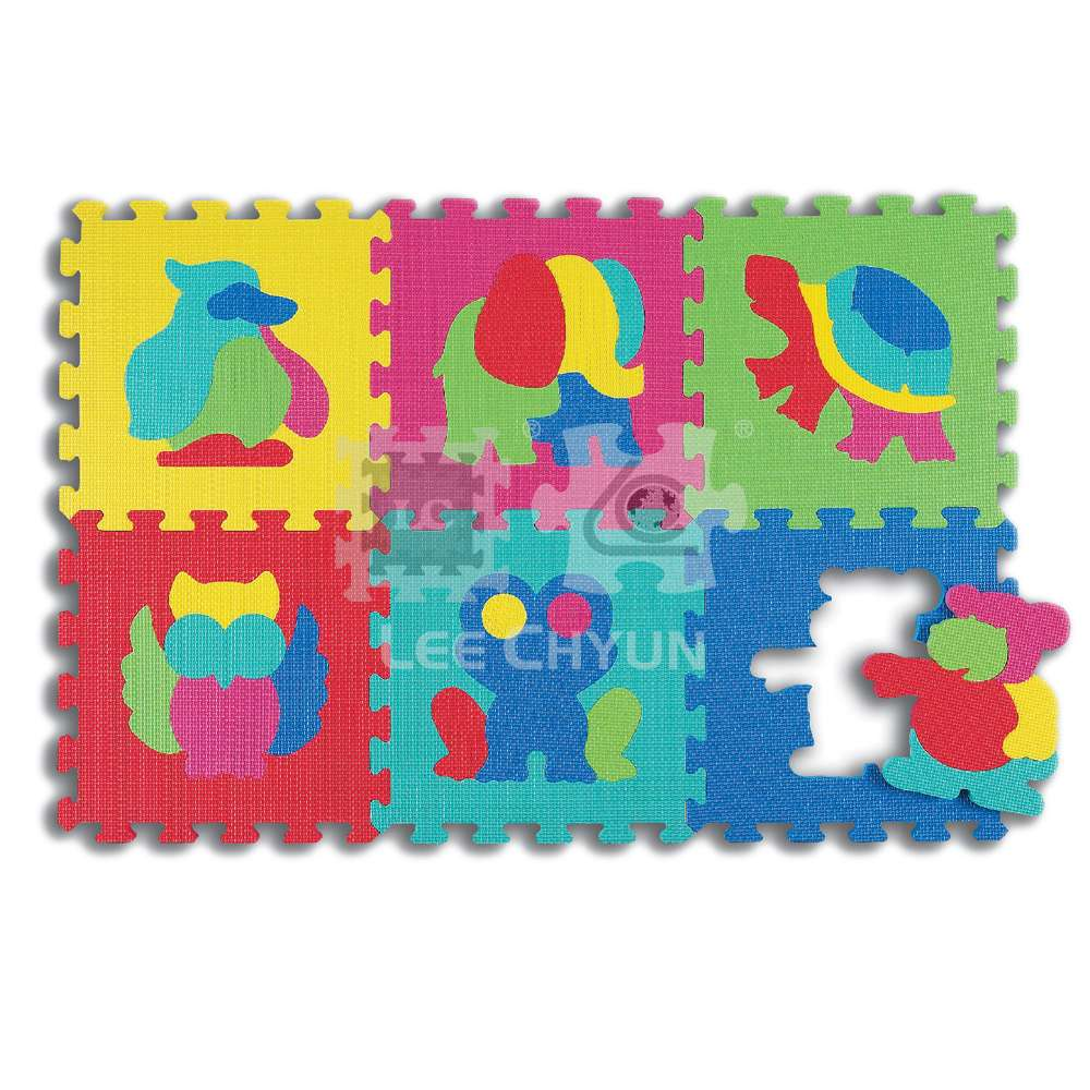 6 PCS ANIMAL PUZZLE MAT