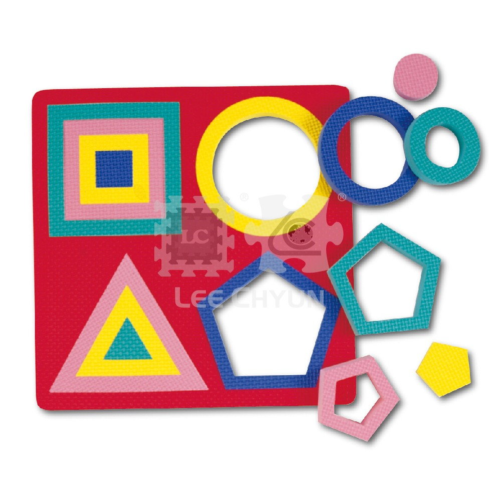 FOAM GEOMETRIC SHAPES PUZZLE