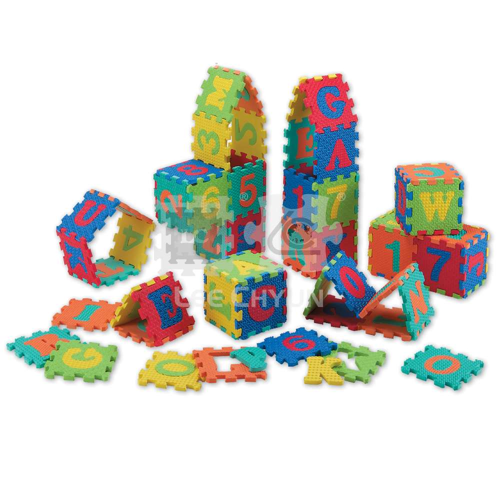 36 PCS FOAM PALY PUZZLE_SIX TEXTURES ASSORTMENT