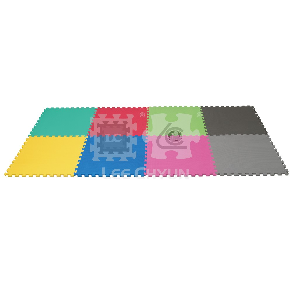 4 PCS PLAIN COLOR FLOOR MAT_STANDARD TEETH FOR 12M+